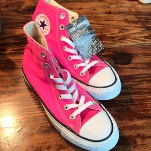 Converse Shoes - Pink Converse All Star High top.  Size 6.5